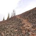 Scree Slope used when the trail is partially snow covered.- Bunsen Peak