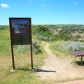 The start of the Nature Loop.- Painted Canyon Visitor Center Trails