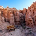 Spur trails leave the main trail and lead into the rock formations.- Juniper Draw Loop