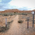 An entrance from the campground.- Juniper Draw Loop