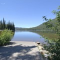 Another view from the boat ramp looking more in a southerly direction.- Little Cultus Lake Campground