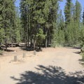 A typical campsite.- Little Cultus Lake Campground