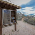 A lending library is located near the campground amphitheater.- Cathedral Gorge State Park Campground
