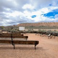 Campground amphitheater.- Cathedral Gorge State Park Campground