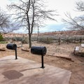Grills located in the day use area adjacent to the campground.- Cathedral Gorge State Park Campground