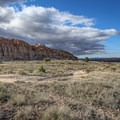 The Juniper Draw Trail travels into the basin of the park.- Cathedral Gorge State Park