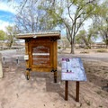 Self pay station at the day use area.- Cathedral Gorge State Park