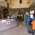 Inside the visitor center.- Cathedral Gorge State Park