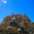 The final climb to the summit of Cabin Mountain.- White Knob Range Traverse