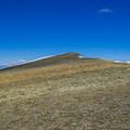 The summit of Lime Mountain.- White Knob Range Traverse