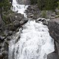 The lower portion of Canyon Creek Falls.- Boulder Creek Lakes
