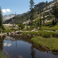 Many of the lakes have no campsites near them.- Boulder Creek Lakes