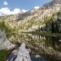 Looking back on El Lake.- Canyon Creek Lakes