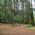 The amphitheater at Round Lake State Park Campground.- Round Lake State Park Campground