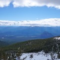 Black Butte in the foreground en route to Hidden Valley.- Mount Shasta: West Face Route