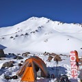 Looking up the West Face from camp.- Mount Shasta: West Face Route