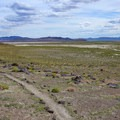 The trail climbs to vistas of the surrounding area.- Grimes Point Archaeological Area