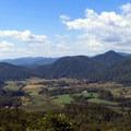 North toward North Carolina.- James Edmond Trail + Black Rock Lake