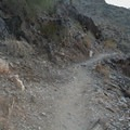 The majority of the trail is similar to this terrain.- Quartz Ridge Trail, Phoenix Mountain Preserve