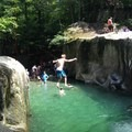 10-foot cliff jump at Warren Falls.- Warren Falls
