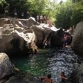 20-foot cliff jumps at Warren Falls.- Warren Falls