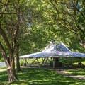 Day use shelter at Wawawai County Park Campground.- Wawawai County Park Campground