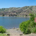 A small beach on the Snake River.- Wawawai County Park Campground