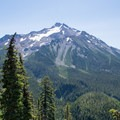 Mount Jefferson from the Whitewater Trail.- Jefferson Park via Whitewater Creek Trail