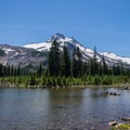 :ooking south from Russell Lake to Mount Jefferson.- Jefferson Park via Whitewater Creek Trail