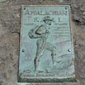 Plaque on Springer Mountain.- Springer Mountain Loop via Len Foote Inn