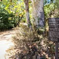 A sign at the trailhead.- Solstice Canyon