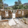 The ruins of the Keller House along the trail.- Solstice Canyon
