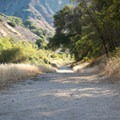 A level trail leading up the river canyon.- Red Rock Pool