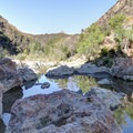 Rocks for jumping off of!- Red Rock Pool