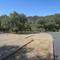 The trail to the pool has a sizable parking area at the end of Paradise Road.- Red Rock Pool