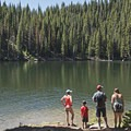 Bloods Lake is perfect for the whole family.- Bloods Lake