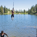 The rope swing at Bloods Lake.- Bloods Lake