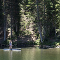 Paddleboarding on Bloods Lake.- Bloods Lake