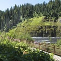 Looking down toward the Henrys Fork River.- Upper Mesa Falls