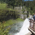 Upper Mesa Falls is over 10 stories tall.- Upper Mesa Falls
