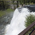 Upper Mesa Falls is a great place to contemplate and relax.- Upper Mesa Falls
