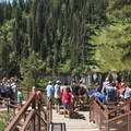 The viewing decks can get a bit crowded, but everyone moves through soon enough.- Upper Mesa Falls