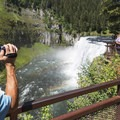 Tourists love this place!- Upper Mesa Falls