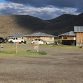 Summer Lake accomodations including six guest houses/cabins, RV hookups, and numerous tent sites.- Summer Lake Hot Springs Campground