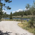 The boat ramp parking area.- Riverside Campground