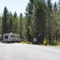 The entrance to Riverside Campground.- Riverside Campground