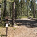 Typical site in Riverside Campground.- Riverside Campground