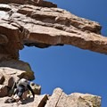 Steep incline to the notch.- Longs Peak: Keyhole Route