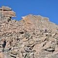 The famous keyhole. Follow the cairns within the boulder field for the best appraoch.- Longs Peak: Keyhole Route