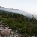 Early morning cloud play.- Longs Peak: Keyhole Route